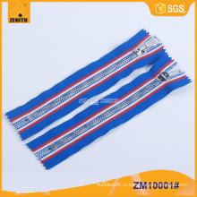 5 # Металлическая молния с латунной молнией с пользовательской модной лентой ZM10001