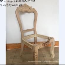 Cadre de meuble en bois massif sculptant une chaise en bois