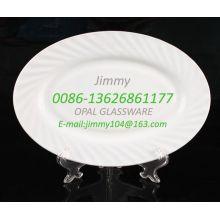 Plaque de taille en verre crème résistant à la chaleur