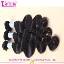 Qingdao cheap wholesale naturelle des cheveux russe 100 % non transformés cheveux humains vierges russe