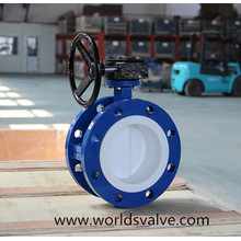 PTFE Fully Lining Double Flange Butterfly Valve