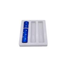 Bandejas de inserção termoformadas de protetor labial brancas