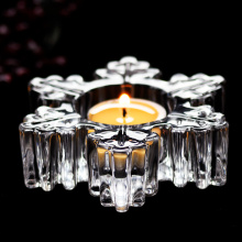 Bougeoir décoratif en verre flocon de neige unique personnalisé