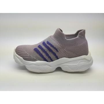 Moda quente Flyknit crianças sapatos casuais