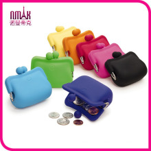Lady Candy Colors Waterproof Silicone Coin Purse Soft Rubber Wallet Case Pouch