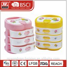 Boîte de rangement en plastique coloré (4 couches)