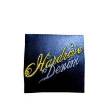 Etiqueta de couro personalizada impressa com venda quente para vestuário (HJL04)