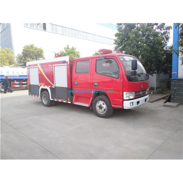 double row dongfeng small water fire fighting truck