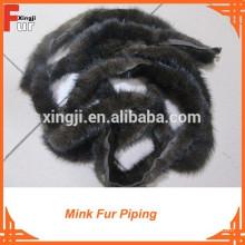 Para la ropa China Mink Fur Piping