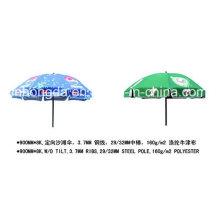 Outdoor-Professional Printed Logo Strand Sonnenschirm mit Quasten (YSBEA0023)