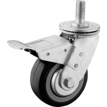 Heavy Duty PU M20 Thead Swivel Caster mit Bremse