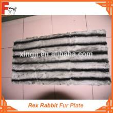 Nuevo diseño de Chinchilla Placa de piel de conejo Rex