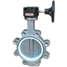 Stainless Steel Lug Type Butterfly Valve with PTFE Seat