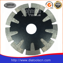 Lame de scie circulaire: lame de scie segmentée en forme de T fritté de 115 mm