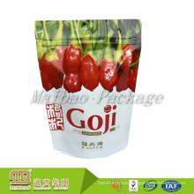 Manufacturers Food Grade Aluminum Foil Plastic Lined Custom Printed Stand Up Ziplock Bags