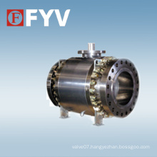 Stainless Steel 3 PC Trunnion Mounted Ball Valve for Oil Industry