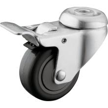 Hollow Kingpin PU Medical Caster Wheels mit voller Bremse für Krankenhaus Betten