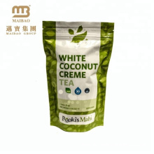 Wholesale Laminated Material Custom Resealable Ziplock Standing Up Pouch Aluminum Foil Green Tea Package Bags