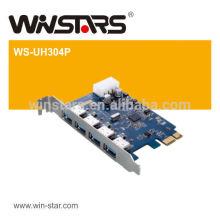 USB 3.0 PCI Express Card,4 ports usb wireless PCI-E card, PCI-e card with Power Cable