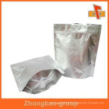 Biodegradable Resealable Ziplock Aluminum Foil Packaging Bag For Snack