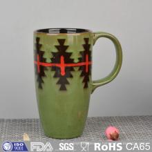 Глазурованная Керамическая кружка с ручной росписью