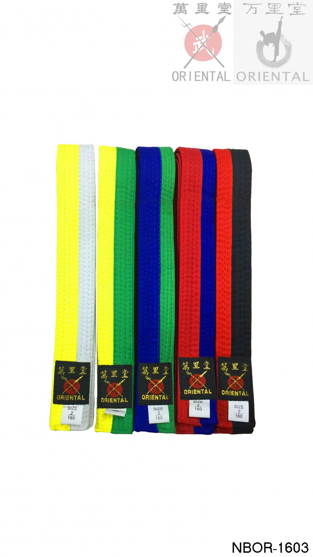 half and half color belts