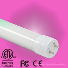 LED T8 Tube Lighting avec ETL et Dlc