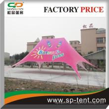 Alibaba fabricants de porcelaine en aluminium châle d'occasion publicitaire publicitaire rose ouble top star tente 12x17m à vendre