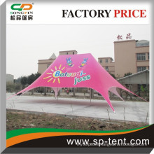 Alibaba china suppliers aluminum frame used canopies advertising pink ouble top star tent 12x17m for sale