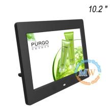 Multi funcional LCD 10 polegadas moldura digital com parede de montagem VESA