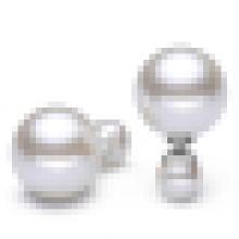 Damen Temperament 925 Sterling Silber Perlen Ohrringe