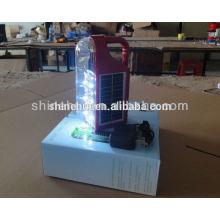 Linterna de camping solar lámparas de cristal lámpara solar de manivela
