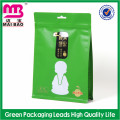 Customized Aluminum Foil Reclosable Ziplock Plastic Packing Bag for Food with Hanger