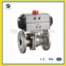 Формате cwx-220В пневмопривод клапана или электрического привода шаровой поворотный затвор с фланцевым соединением