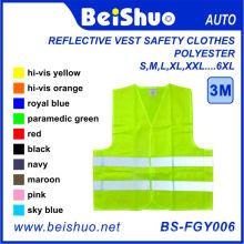 Veste réflective Vêtements de sécurité 100% polyester