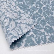 Tecido jacquard com toque suave 54% acrílico 43% poliéster azul floral tricotado com lurex metálico brilhante para peça de roupa