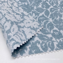Soft touching 54% acrylic 43% polyester blue floral knit jacquard fabric with shine metallic lurex for garment