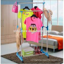 Rolling Clothes Rack Hanging Garment Bar Portable Adjustable Heavy Duty Hanger