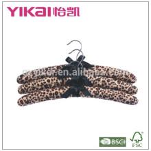 Conjunto de 3pcs tecido macio fuzz acolchoado cabide de roupas na pintura zebra