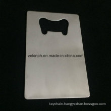 High Quality Stainless Steel Name Card Shape Bottle Opener with Brushed Surface for Promotion