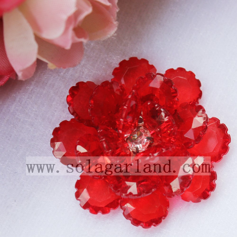 Plastic Crystal Artificial Bead Flowers