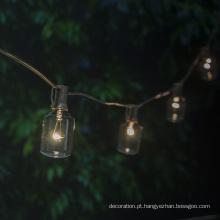 Decoração do jardim que ilumina a luz exterior da corda de Edison
