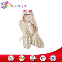 100% microfiber kids beach towel for hooded