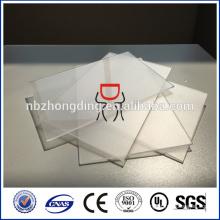 1.5mm claro hoja de policarbonato esmerilado para silla estera