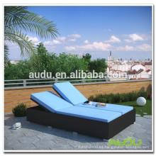 Audu Leisure Double Man Playa de la piscina portátil Sun Lounger