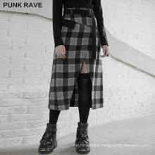 PUNK RAVE OPQ-890DQF spring asymmetrical girls sexy dark series mini vintage party club black skirt
