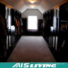 Guarda-roupa do projeto do armário do Walk-in da grão de madeira luxuosa da casa de campo para a mobília home (AIS-W456)