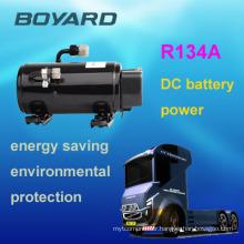 R134A 12V auto dc kompressor boyard brand for DC 12v/24v Battery driven portable air conditioner for truck cabin
