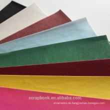 2016 Mode Weihnachten Alibaba China Supplierfancy Papier Beflockung Aufkleber mit Flock-Einlage
