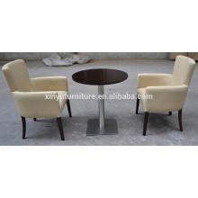 Modern restaurant armchair and round table set XYN12